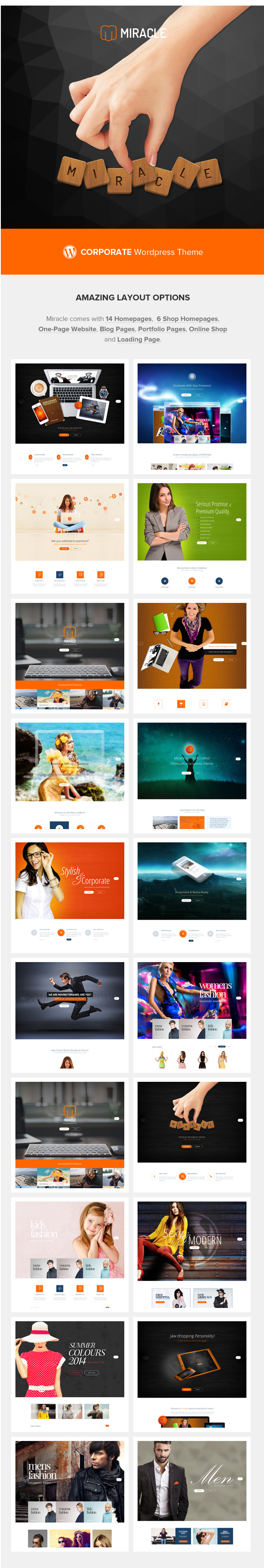 miracle Multipurpose WordPress Theme