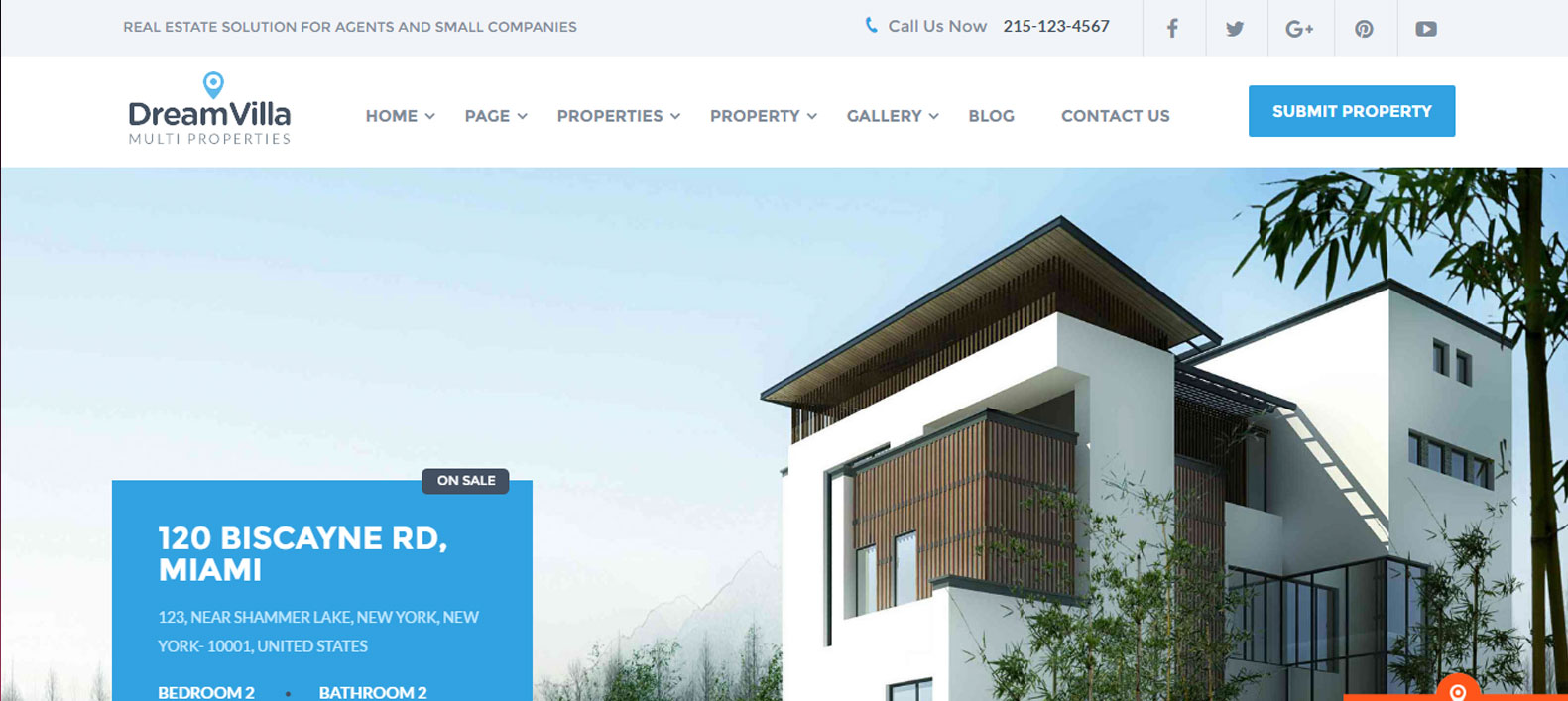 DreamVilla | Real Estate WordPress Theme