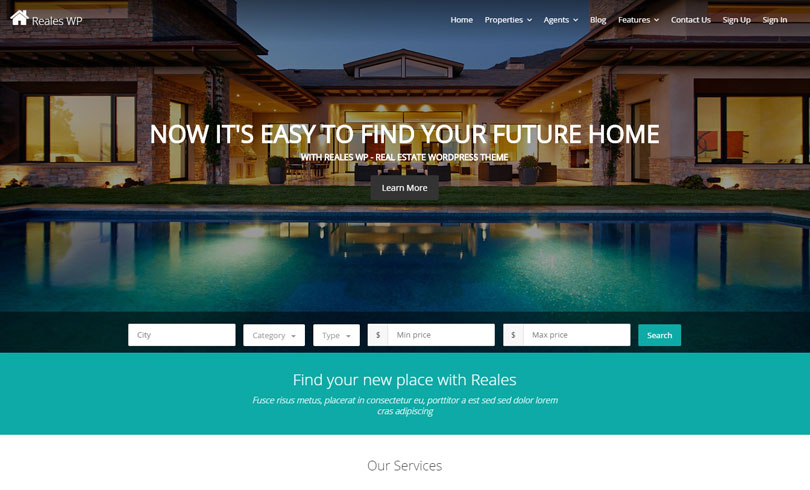 Reales WP | Real Estate WordPress Theme