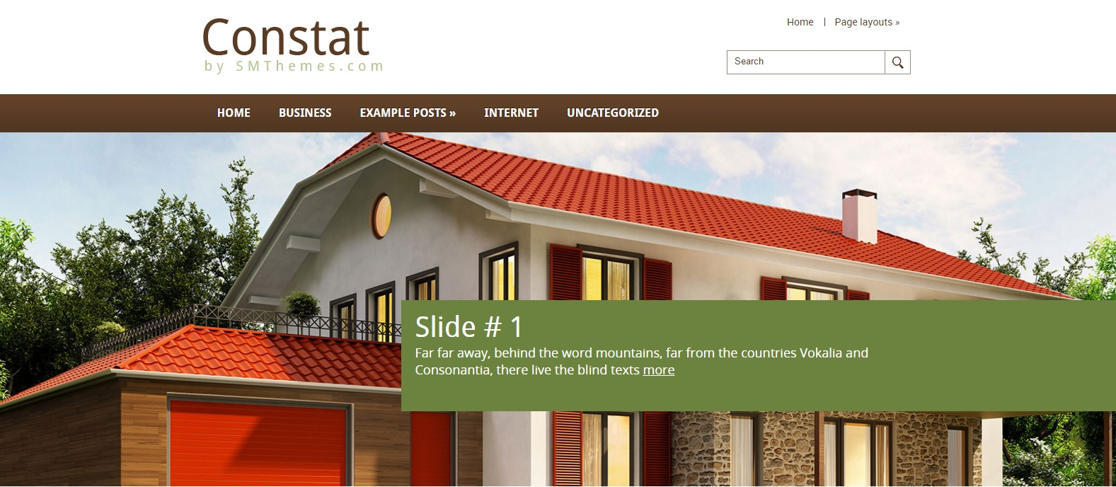 Constat | Free WordPress Template