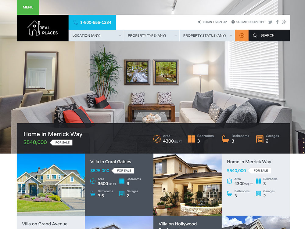 Real Places | Responsive WordPress Real Estate Theme