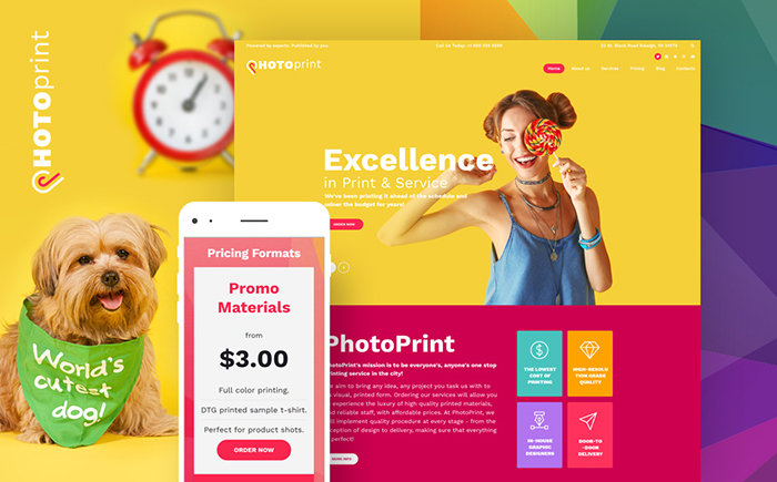 print shop responsive WordPress theme