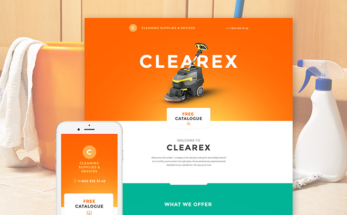 Cleaning Products Landing Page Template