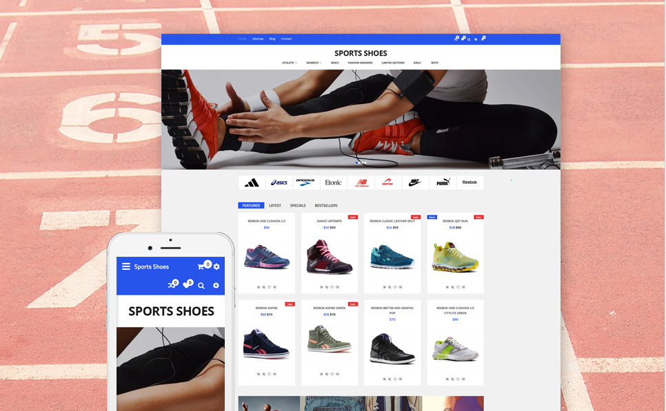 Sports Shoes OpenCart Growth Hack Theme