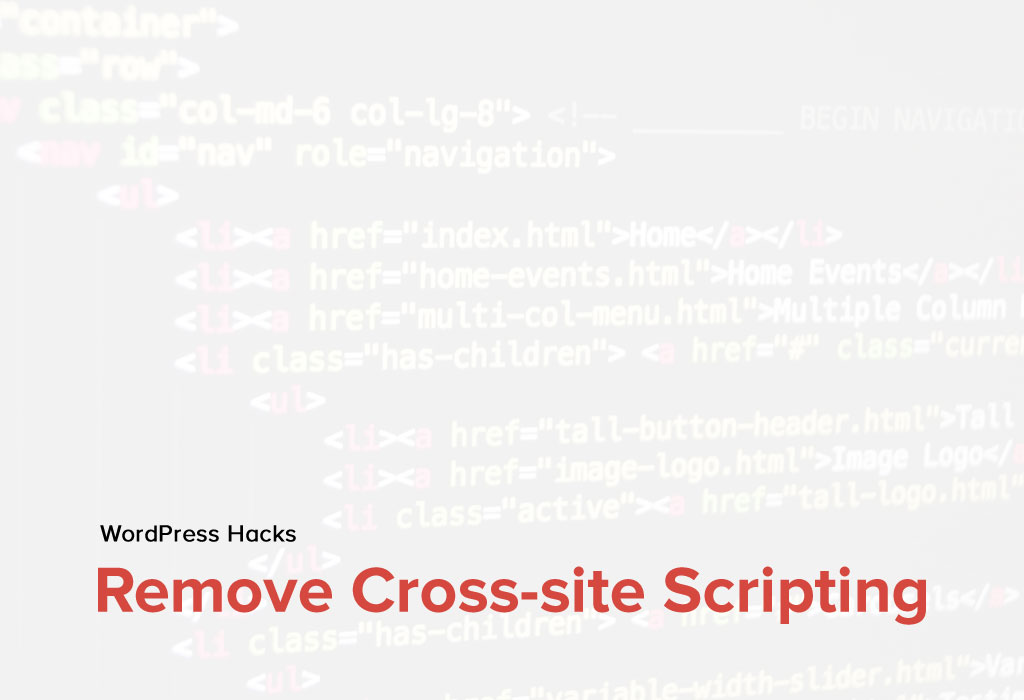 How to remove the Cross-site Scripting in WordPress?