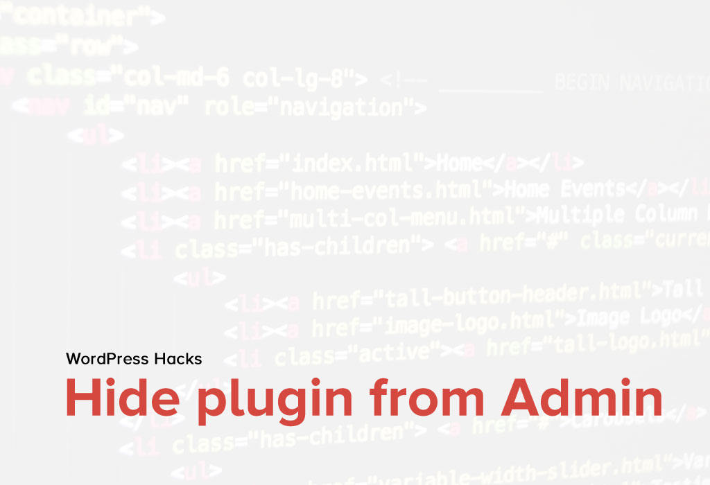 How to hide plugins from the Admin plugin list?
